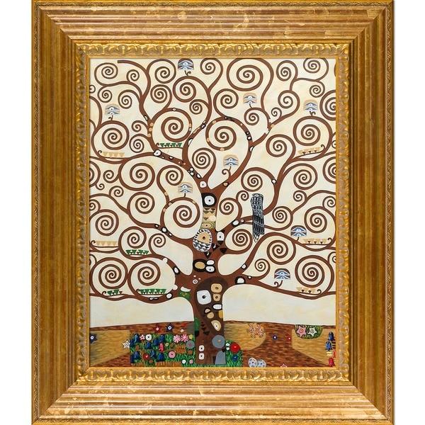 Zz1597 Wall Art Decoration Painting Gustav Klimt Big Tree: Shop Gustav Klimt 'Tree Of Life' Hand-painted Framed Art