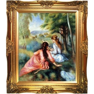 Renoir 'Two Girls in the Meadow (Picking Flowers)' Art