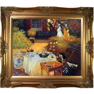 Monet 'The Luncheon' Framed Canvas Art