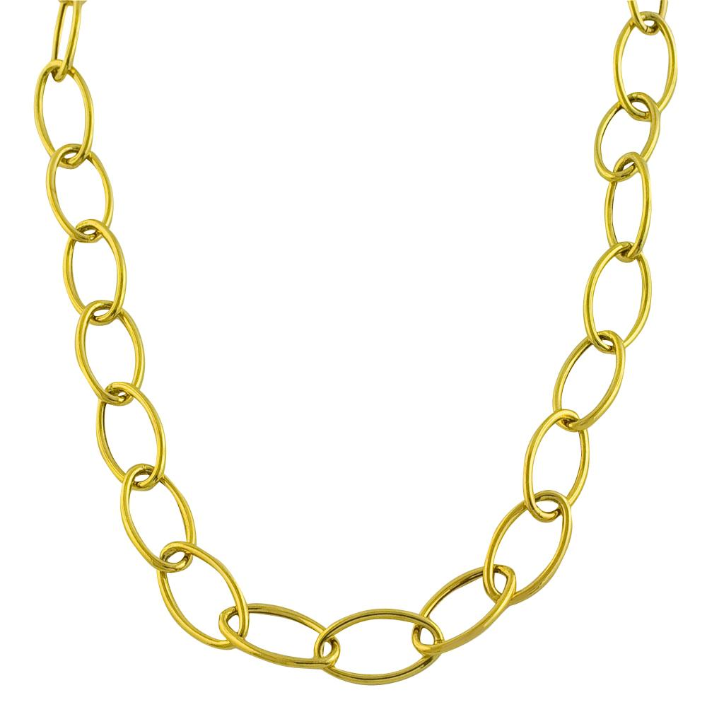 Fremada 14k Yellow Gold Open Fancy Link 18-inch Necklace