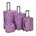 Rockland Designer Love Expandable 4-piece Luggage Set