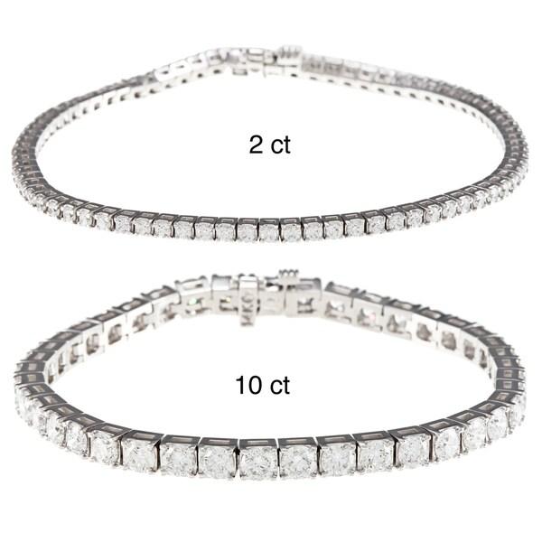 14k White Gold 2ct TDW Diamond Dreams Tennis Bracelet (G-H,SI2)