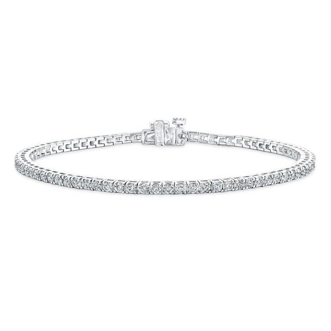 14k White Gold 10ct TDW Diamond Tennis Bracelet (G-H,SI2)