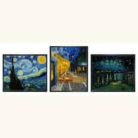 Van Gogh 'Starry Night Trilogy' 3-piece Art Set