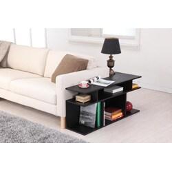 Furniture of America Katrin Black Wood/ Console Sofa Table