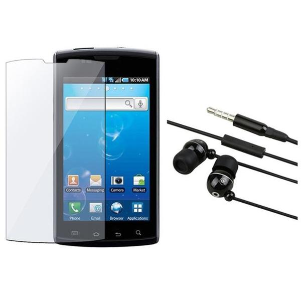 INSTEN Black 3.5 mm Headset and Screen Protector for Samsung Captivate i897