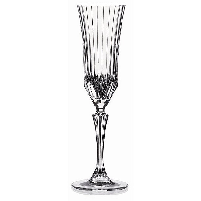 Adagio Collection Crystal Champagne Flutes (Set of 6)