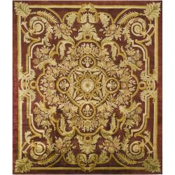 Hand-Knotted Traditional Mandara New Zealand Wool Rug (8' x 10') - Thumbnail 1