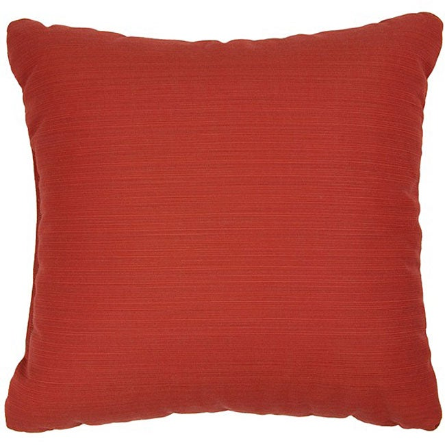 Crimson 22-inch Knife-edged Indoor/ Outdoor Pillows with Sunbrella Fabric (Set of 2)