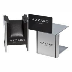 Azzaro Women's 'Sparkling' Black Leather Strap Watch