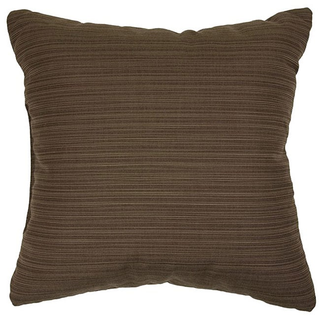 Walnut 22-inch Knife-edged Indoor/ Outdoor Pillows with Sunbrella Fabric (Set of 2)