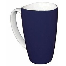 Wavy Rim Ceramic 17.5-oz Cobalt Mugs (Pack of 4)