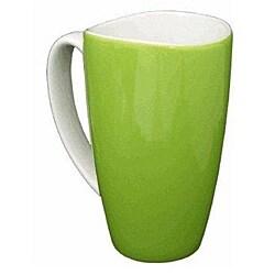 Wavy Rim Ceramic 17.5-oz Green Mugs (Pack of 4)