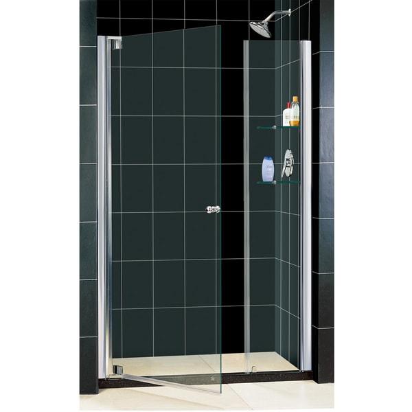Shop Dreamline Elegance 46 48x72 Inch Frameless Pivot Shower Door Free Shipping Today