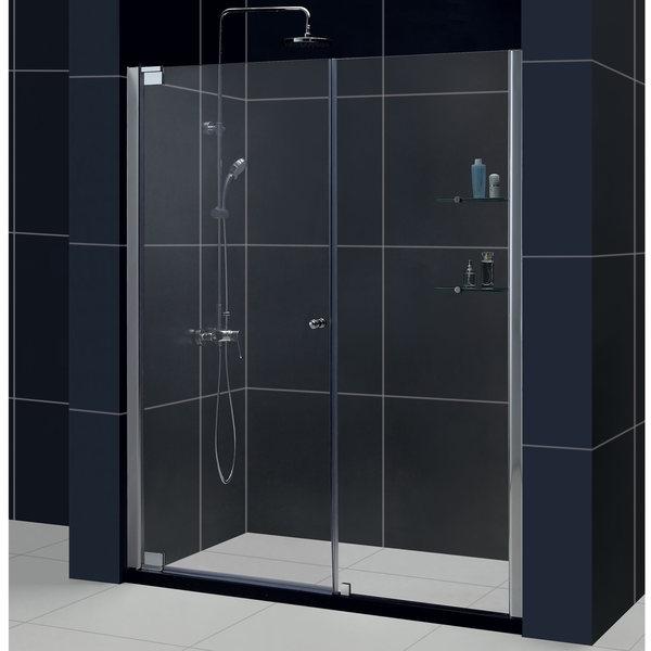 DreamLine Elegance 51-53x72-inch Frameless Pivot Shower Door