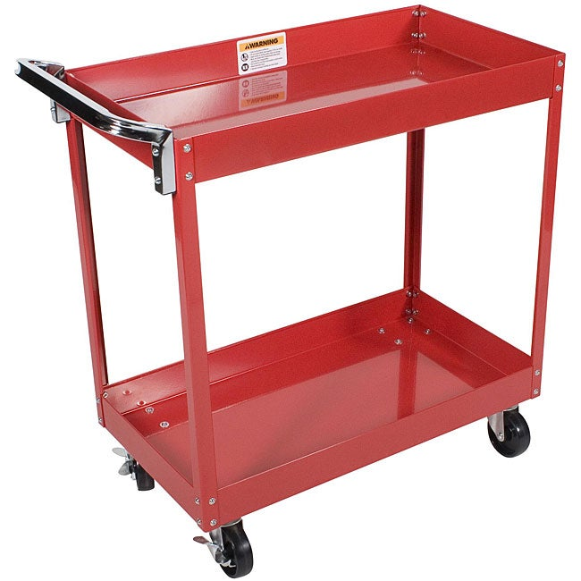 Arcan Red Powder Coated Steel Service Cart Free Shipping