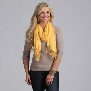 Link to Peach Couture Hand-knotted Yellow Wrap Similar Items in Scarves & Wraps