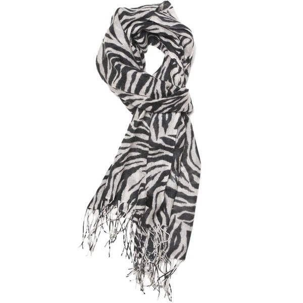 Shop Zero Zero Women s Black White Zebra-print Hand-knotted Rayon Scarf -  Free Shipping On Orders Over  45 - Overstock - 5486786 03a4c2f49