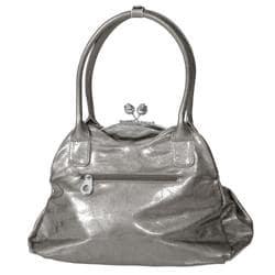 Adi Designs Women's Rosette Metal Frame Clasp Handbag