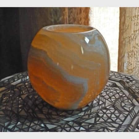 Handmade Large Alabaster Globe Votive (Egypt)