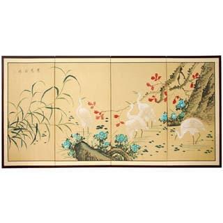 Handmade Geese in the Water Silk Screen