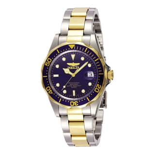 Invicta Men'S Blue Dial Two-Tone Watch|https://ak1.ostkcdn.com/images/products/5492253/P13277234.jpg?impolicy=medium