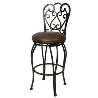 Magnolia 30-inch Autumn Rust Swivel Bar Stool