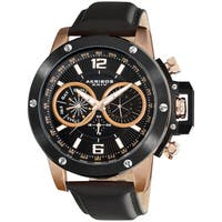 Akribos XXIV Men's Multi-function Stainless Steel Swiss Quartz Rose-Tone Watch