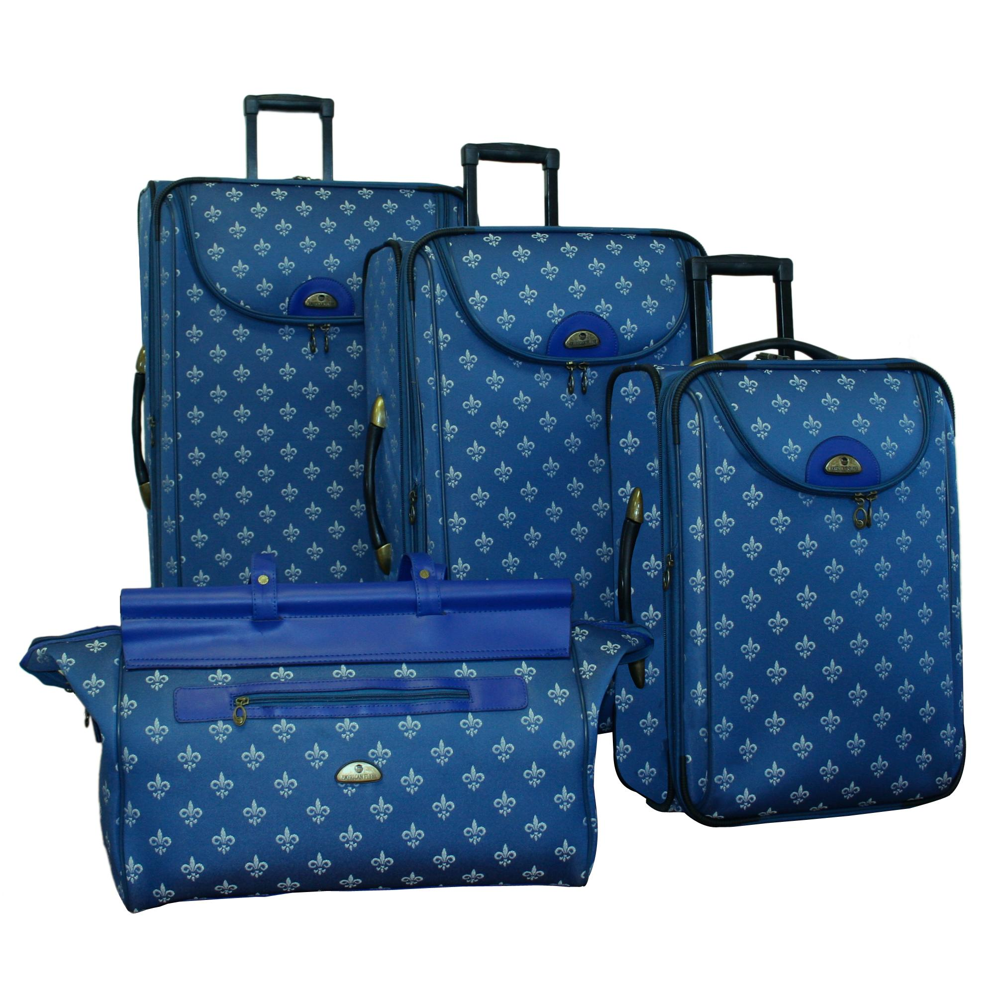 American Flyer Lyon Blue 4-piece Luggage Set