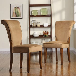Andorra Peat Velvet Upholstered Dining Chair by TRIBECCA HOME (Set of 2)