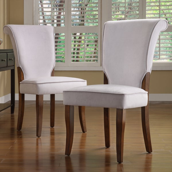 Shop Andorra Grey Velvet Upholstered Dining Chair Set Of