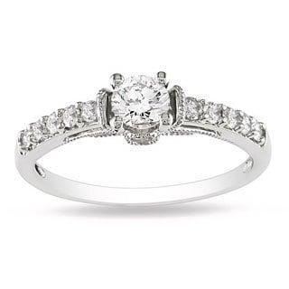 14k White Gold 3/5ct TDW Diamond Fashion Ring