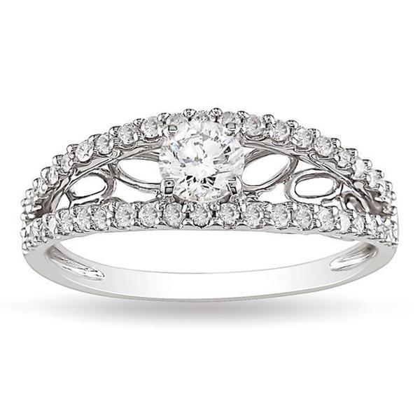 Miadora 10k White Gold 5/8ct TDW Diamond  Ring (G-H, I2-I3)