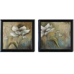 Patricia Pinto 'Spring I and II' Framed 2-piece Canvas Art Set