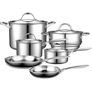 Cooks Standard 10-piece Cookware Multi-Ply Clad Stainless Steel Set