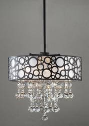'Bubbles' 4-light Crystal Chandelier - Thumbnail 1