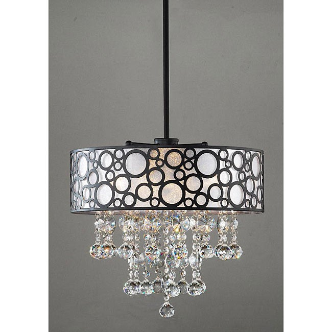'Bubbles' 4-light Crystal Chandelier - Thumbnail 0