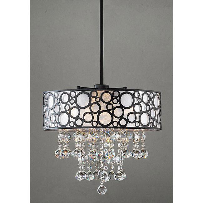 'Bubbles' 4-light Crystal Chandelier