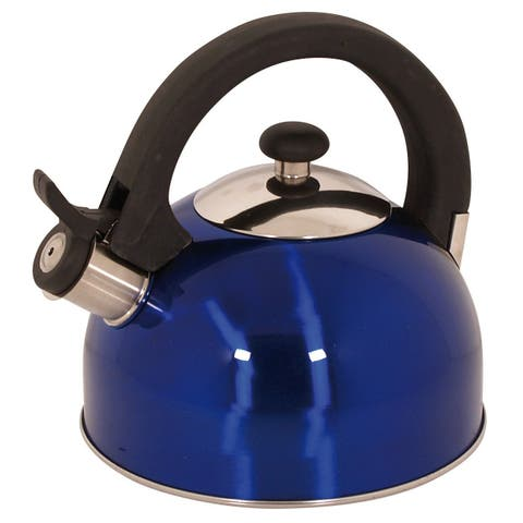 Magefesa Sabal Blue Stainless Steel 2.1-quart Tea Kettle
