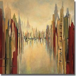 Gregory Lang 'Metropolitan Afternoon' Canvas Art