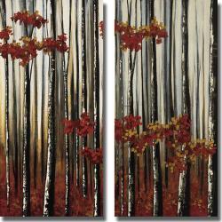 Oscar Soler 'Beauty Within I and II' 2-piece Canvas Art Set