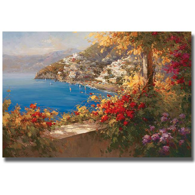 Rosa Chavez and Leon Ruiz 'Italian Riviera' Canvas Art
