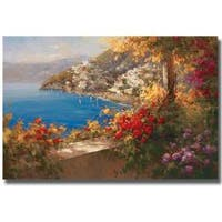Rosa Chavez and Leon Ruiz 'Italian Riviera' Canvas Art