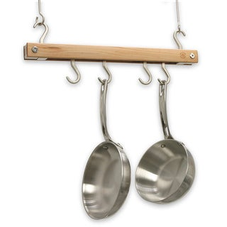J.K. Adams 20-Inch Mini Bar Pot Rack, Natural