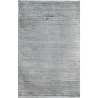 Hand-loomed Haiden Grey Wool Rug (8' x 10')