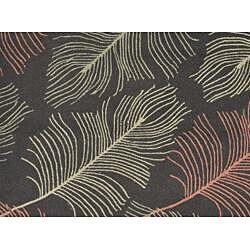 Hand-hooked Braxton Blue Abstract Rug (5' x 7'6) - Thumbnail 1
