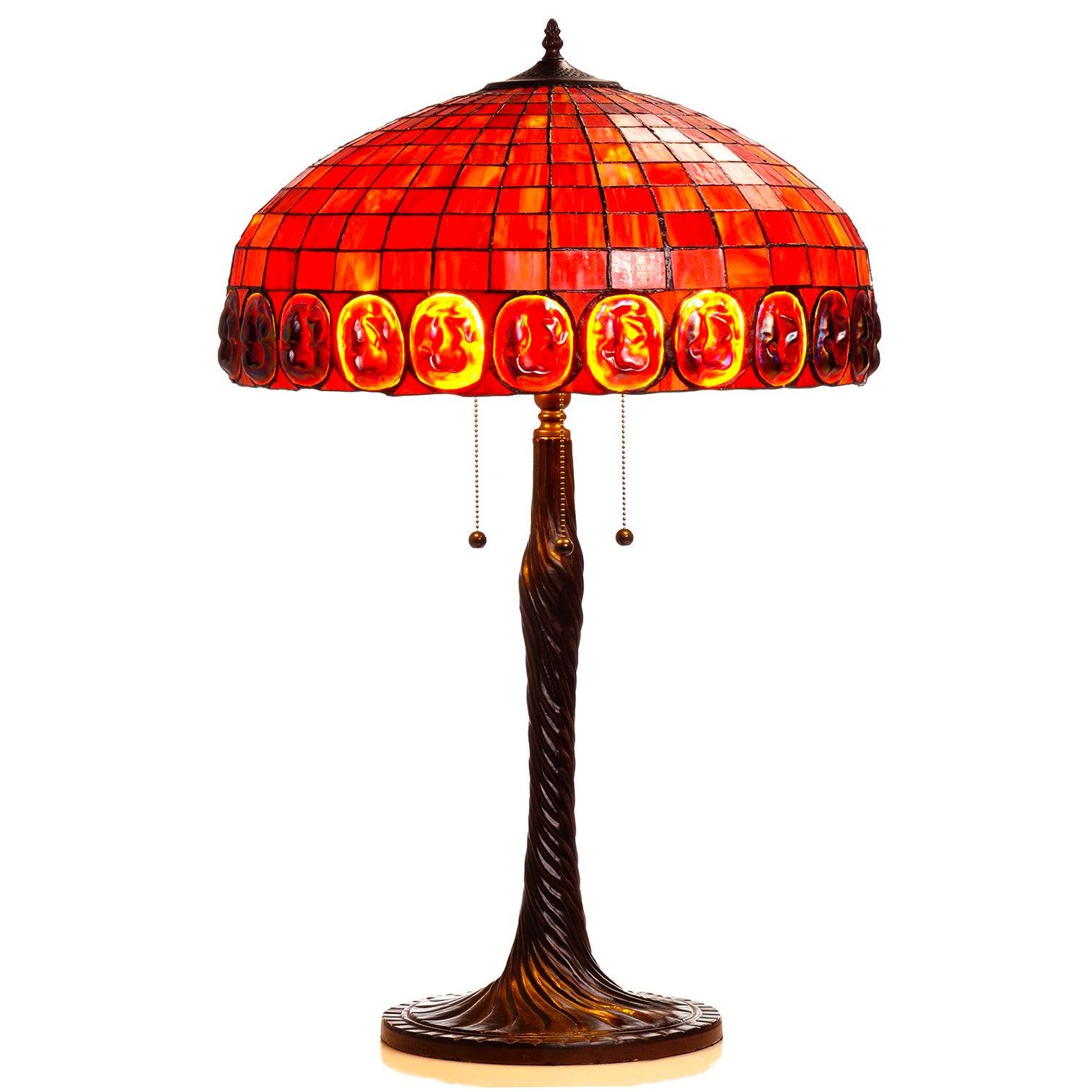Warehouse of Tiffany Tiffany-style 2-light Bronze Table l...