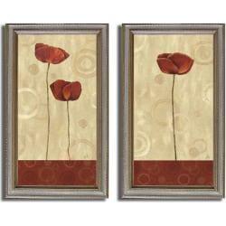Daphne Brissonnett 'Pop Art Poppies' 2-piece Canvas Art Set