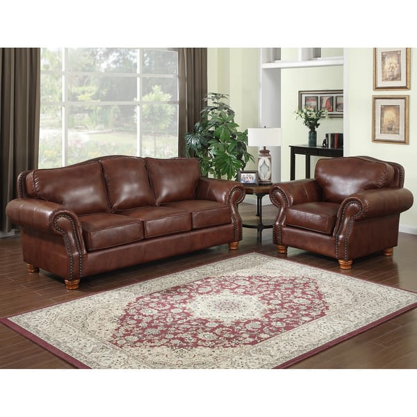 Surprising Brandon Distressed Whiskey Italian Leather Sofa And Chair Alphanode Cool Chair Designs And Ideas Alphanodeonline