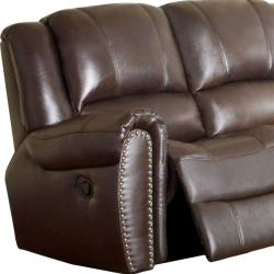 Chelsea Espresso Italian Leather Reclining Sofa and Loveseat